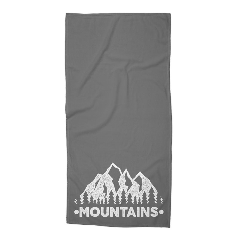 Mountains Accessories Beach Towel by The Bearly Brand