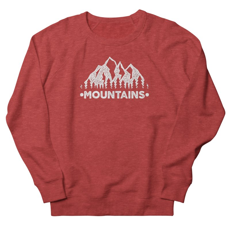 Mountains Men's French Terry Sweatshirt by The Bearly Brand