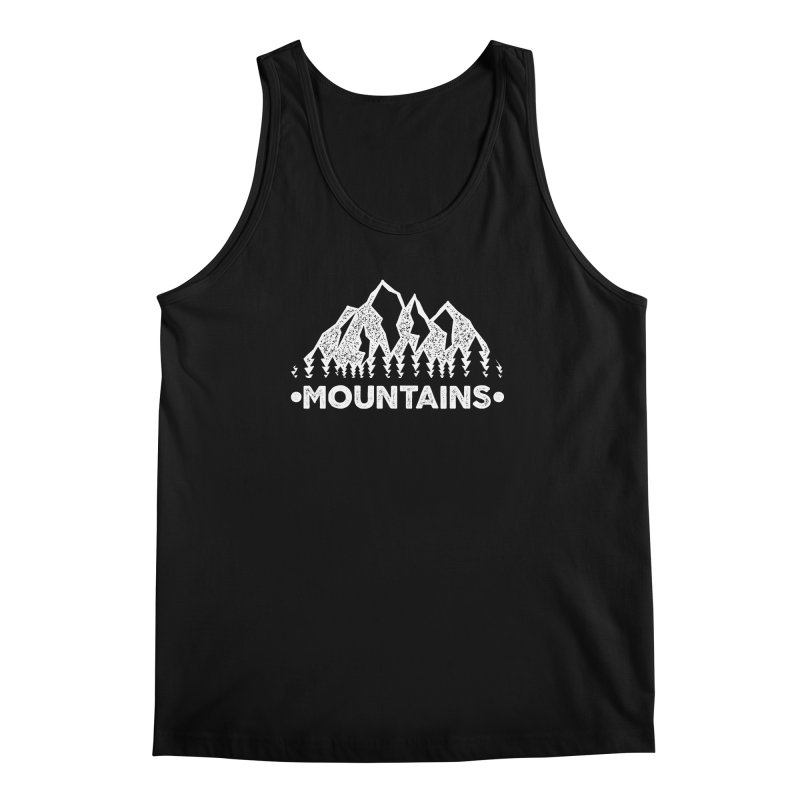 Mountains Men's Regular Tank by The Bearly Brand
