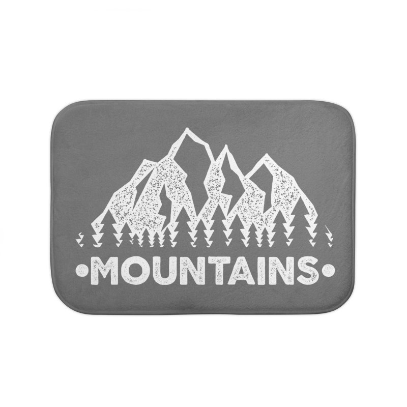 Mountains Home Bath Mat by The Bearly Brand
