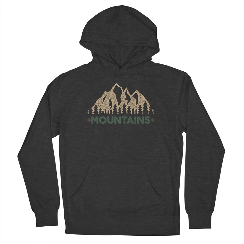 Mountains Men's Pullover Hoody by The Bearly Brand