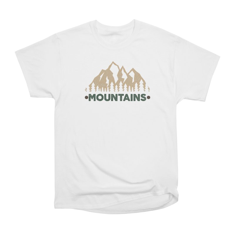 Mountains Men's Heavyweight T-Shirt by The Bearly Brand