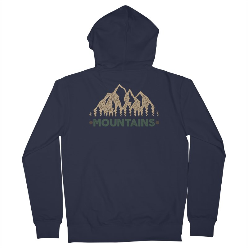 Mountains Women's Zip-Up Hoody by The Bearly Brand
