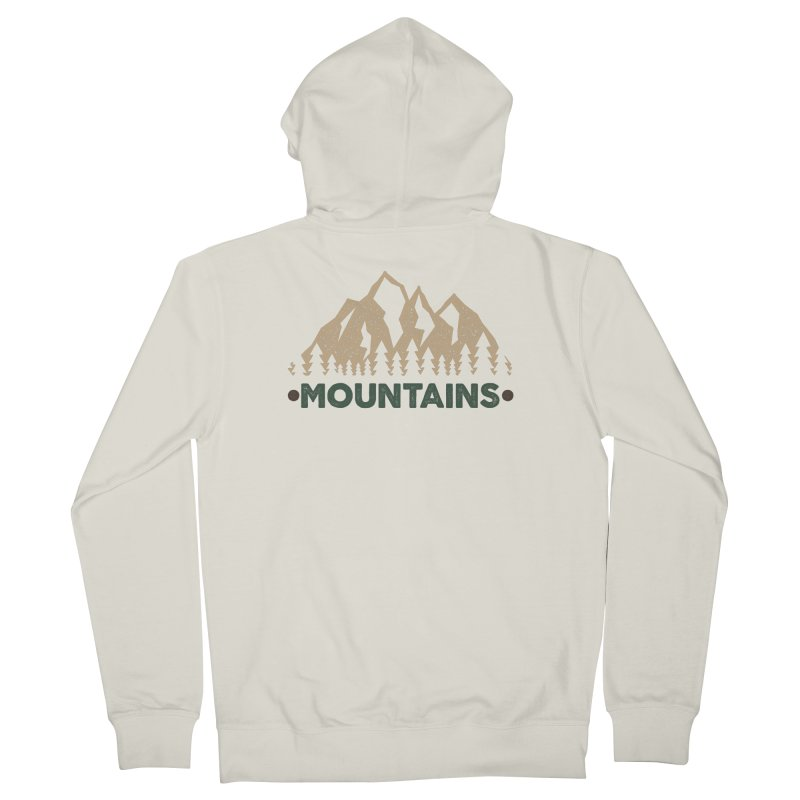Mountains Men's Zip-Up Hoody by The Bearly Brand