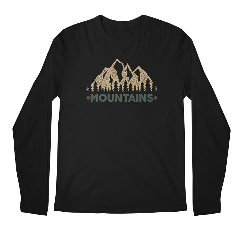 Mountains Men's Longsleeve T-Shirt by The Bearly Brand