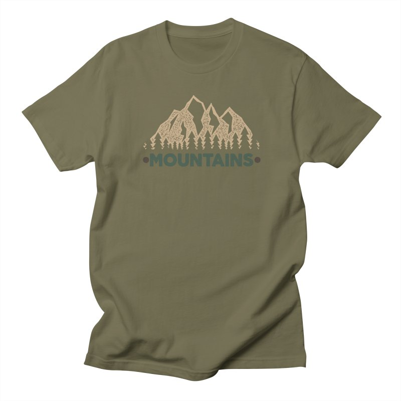 Mountains Women's Unisex T-Shirt by The Bearly Brand