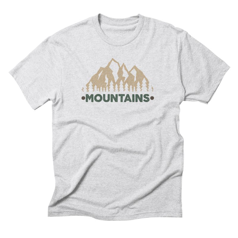 Mountains Men's Triblend T-Shirt by The Bearly Brand