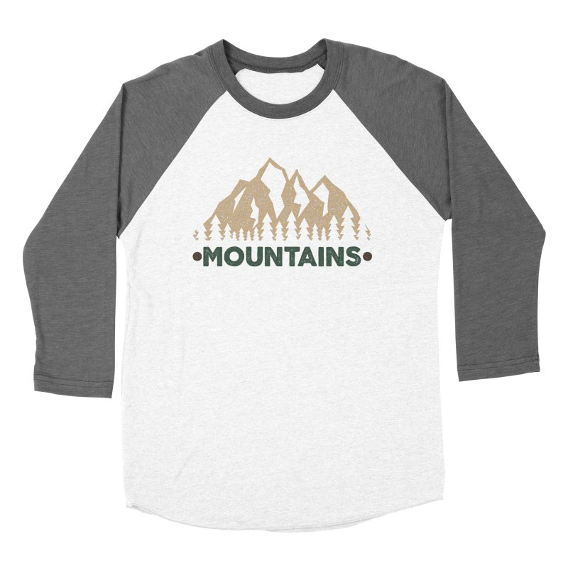 Mountains Women's Baseball Triblend T-Shirt by The Bearly Brand