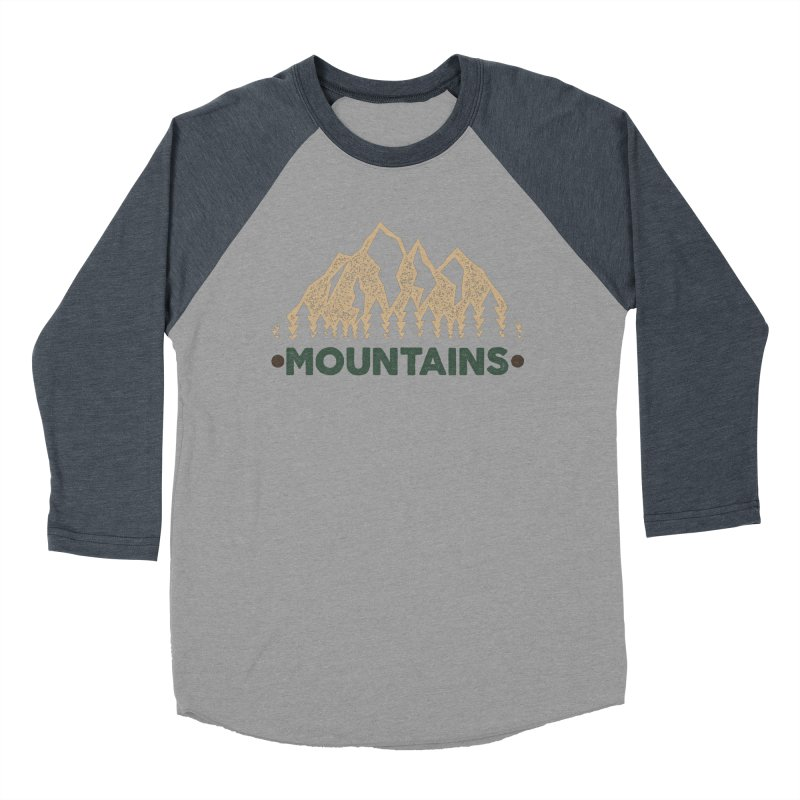 Mountains Men's Baseball Triblend T-Shirt by The Bearly Brand