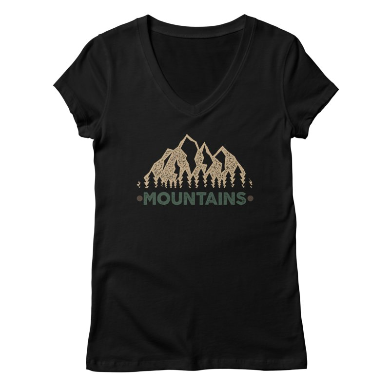 Mountains Women's V-Neck by The Bearly Brand