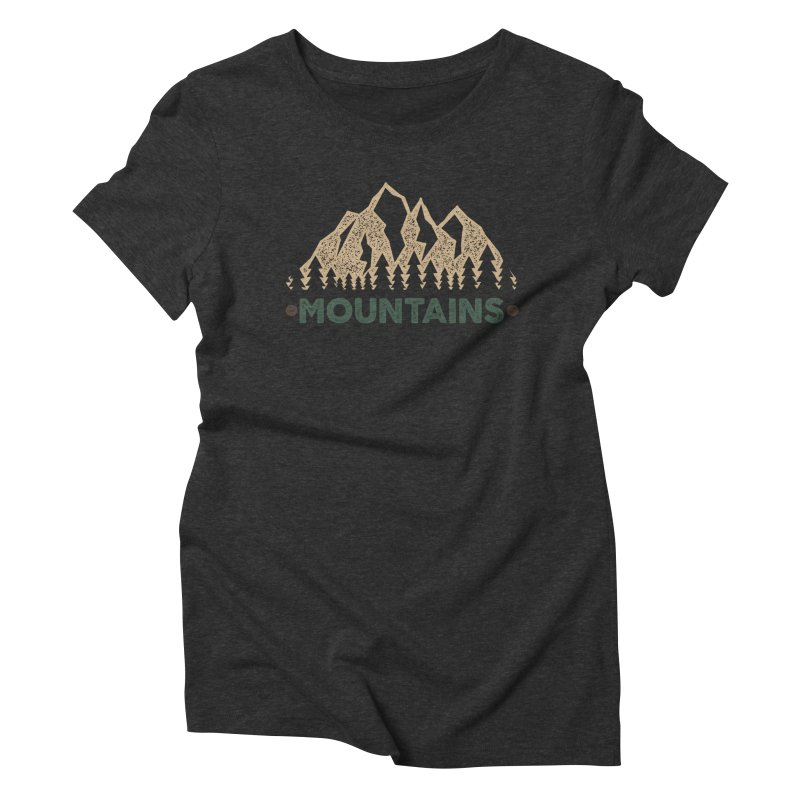 Mountains Women's Triblend T-Shirt by The Bearly Brand