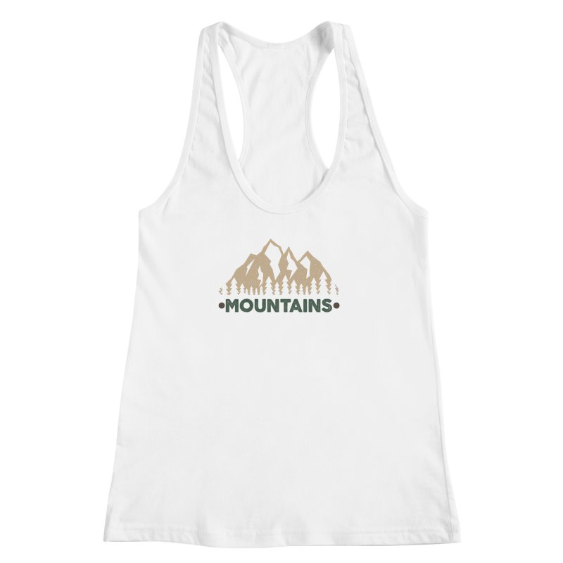 Mountains Women's Racerback Tank by The Bearly Brand