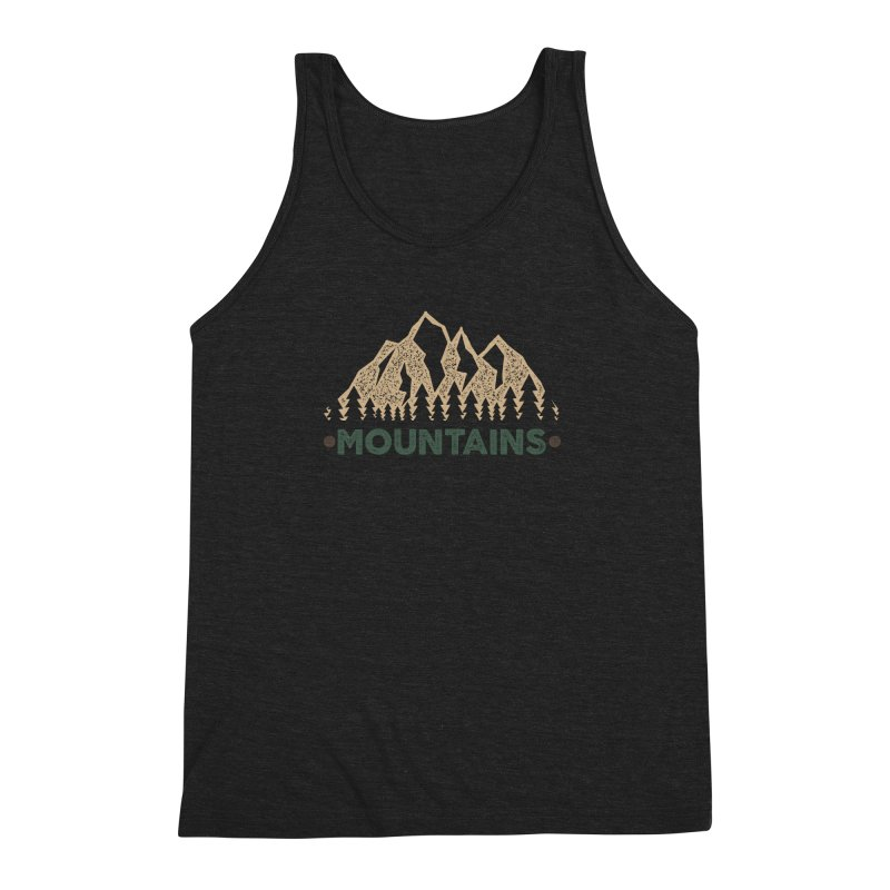 Mountains Men's Triblend Tank by The Bearly Brand