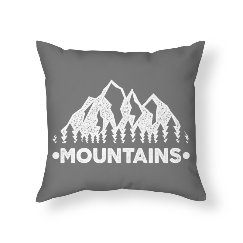 Mountains Home Throw Pillow by The Bearly Brand