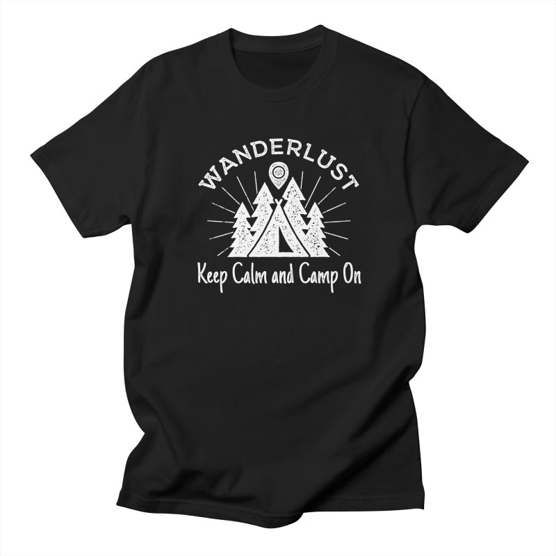 Wanderlust Keep Calm and Camp On Men's T-Shirt by The Bearly Brand