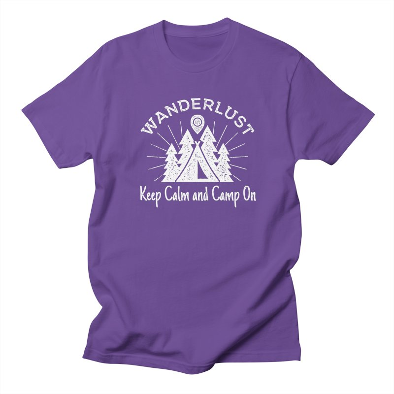 Wanderlust Keep Calm and Camp On Men's Regular T-Shirt by The Bearly Brand