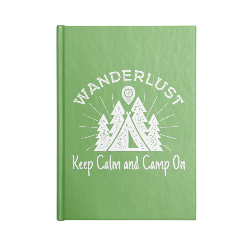 Wanderlust Keep Calm and Camp On Accessories Notebook by The Bearly Brand