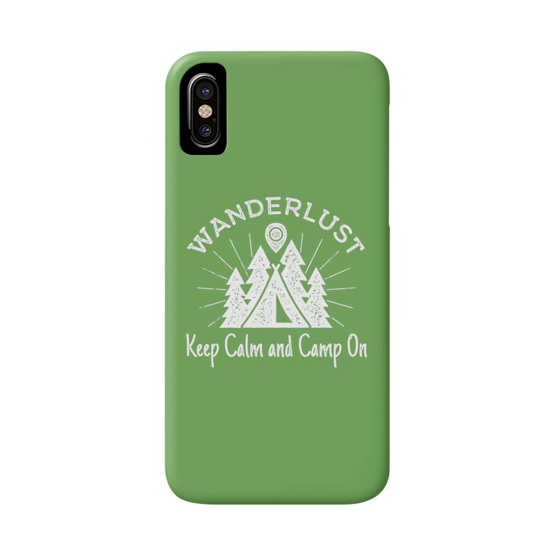 Wanderlust Keep Calm and Camp On Accessories Phone Case by The Bearly Brand