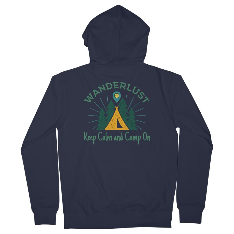 Wanderlust Keep Calm and Camp On Women's Zip-Up Hoody by The Bearly Brand