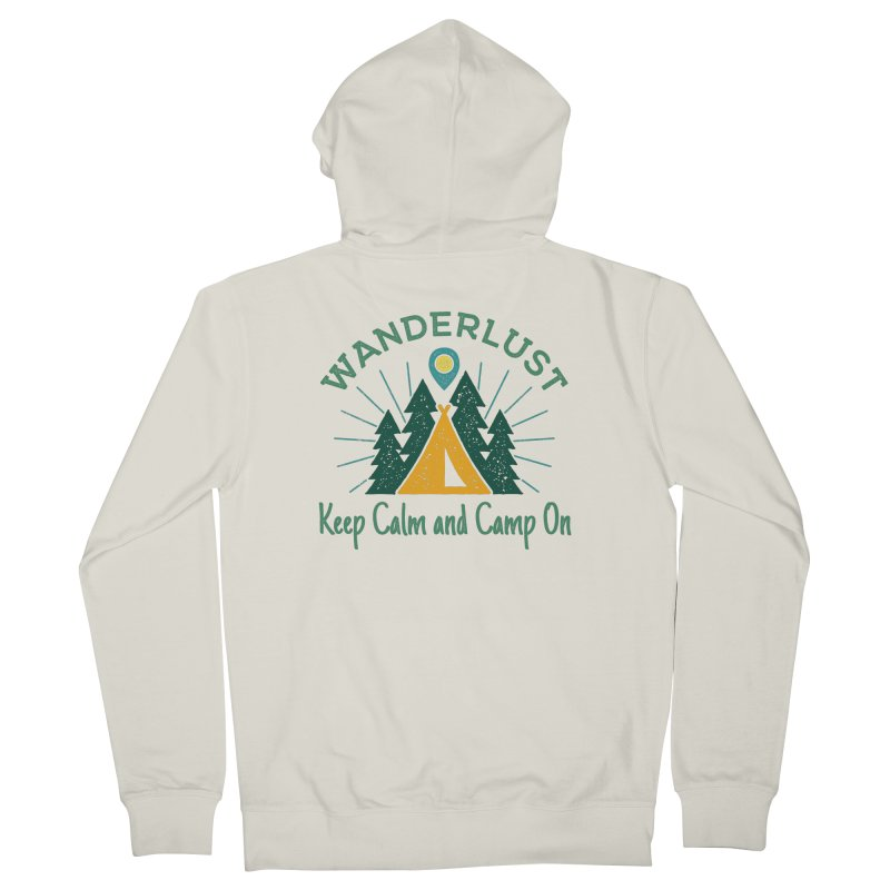 Wanderlust Keep Calm and Camp On Men's Zip-Up Hoody by The Bearly Brand