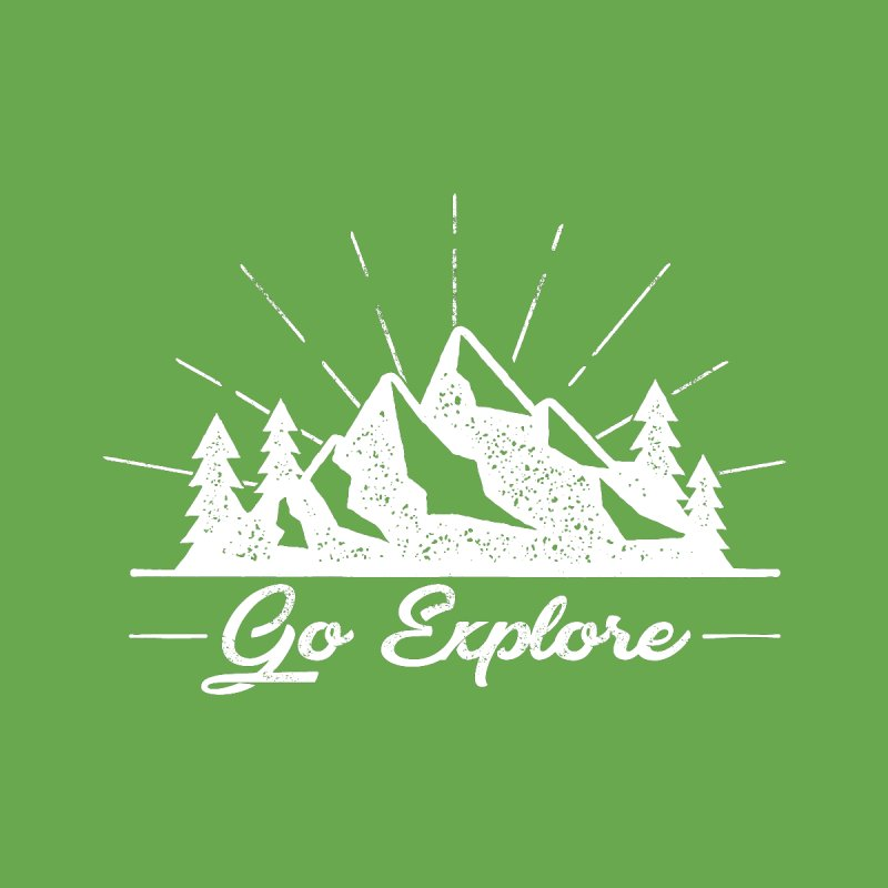Go Explore Nature while Camping & Hiking Men's T-Shirt by The Bearly Brand