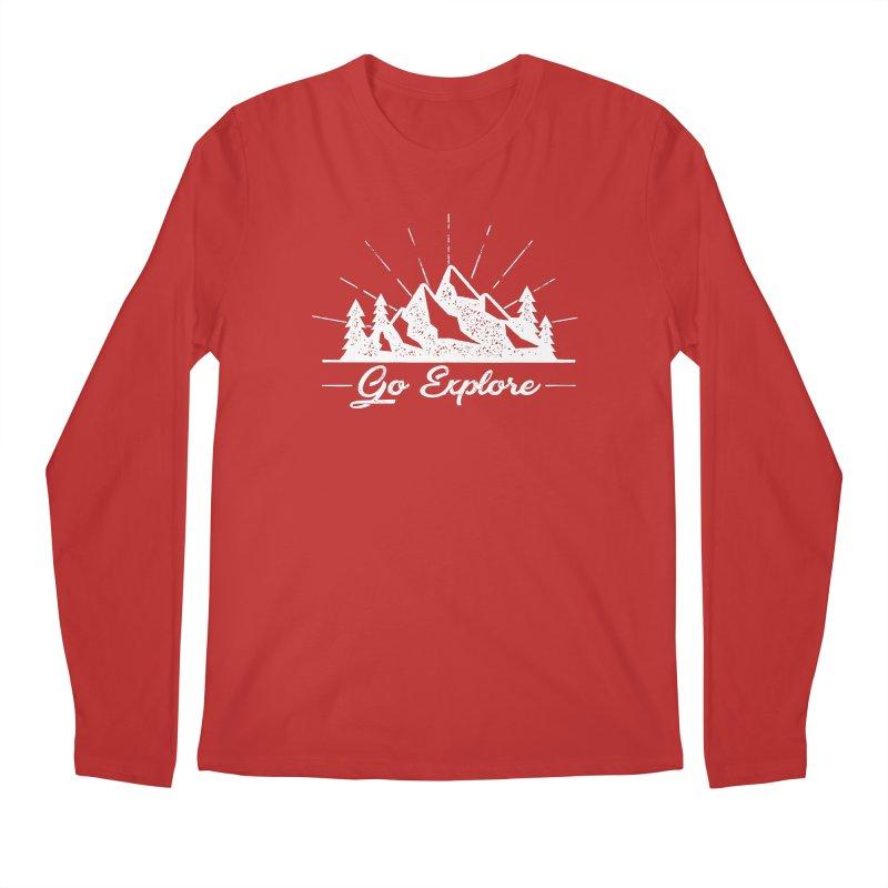 Go Explore Men's Regular Longsleeve T-Shirt by The Bearly Brand