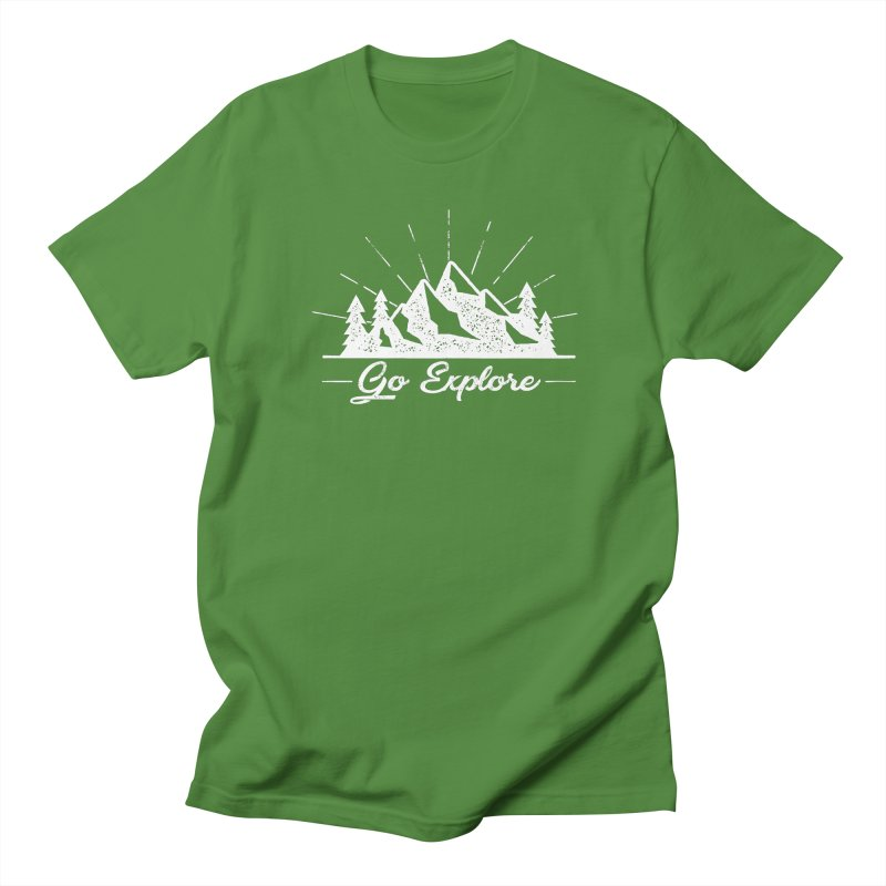 Go Explore Men's Regular T-Shirt by The Bearly Brand