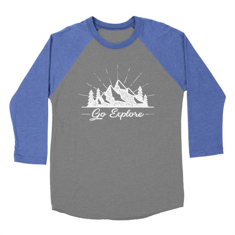 Go Explore Men's Baseball Triblend Longsleeve T-Shirt by The Bearly Brand