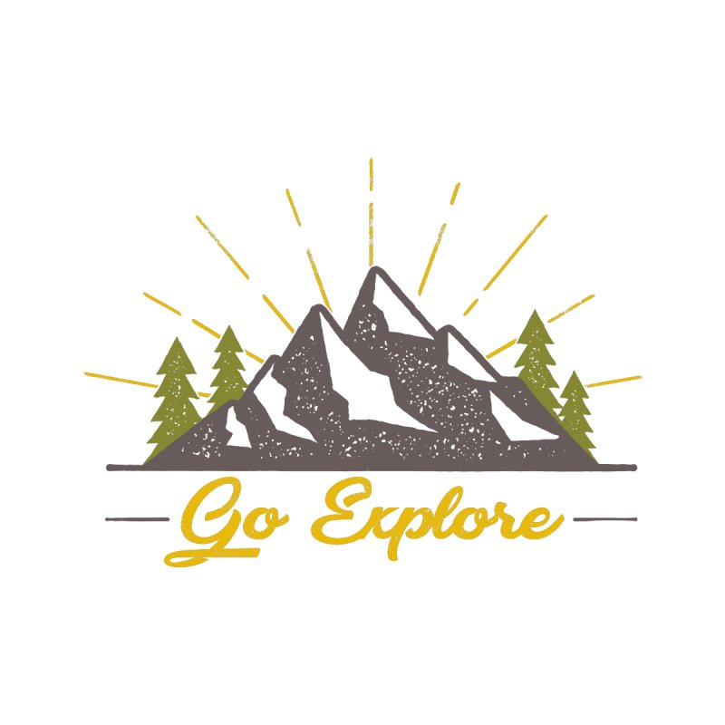 Go Explore Men's T-Shirt by The Bearly Brand