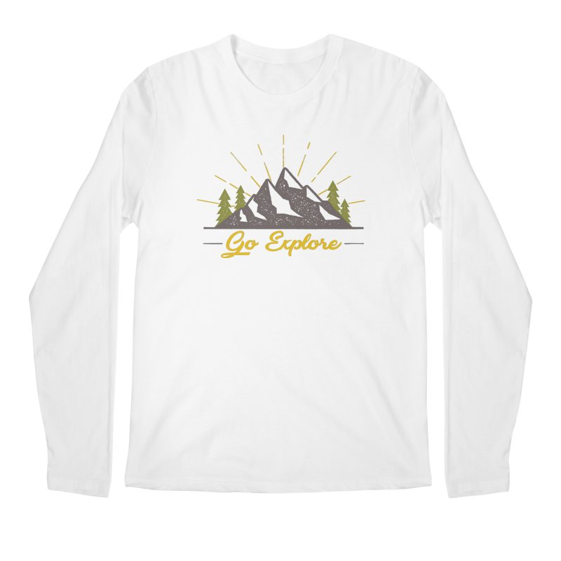 Go Explore Men's Longsleeve T-Shirt by The Bearly Brand