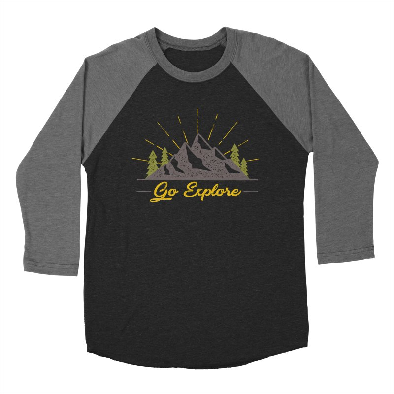 Go Explore Women's Baseball Triblend T-Shirt by The Bearly Brand