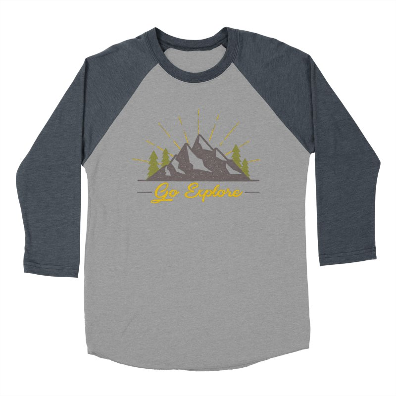 Go Explore Men's Baseball Triblend T-Shirt by The Bearly Brand