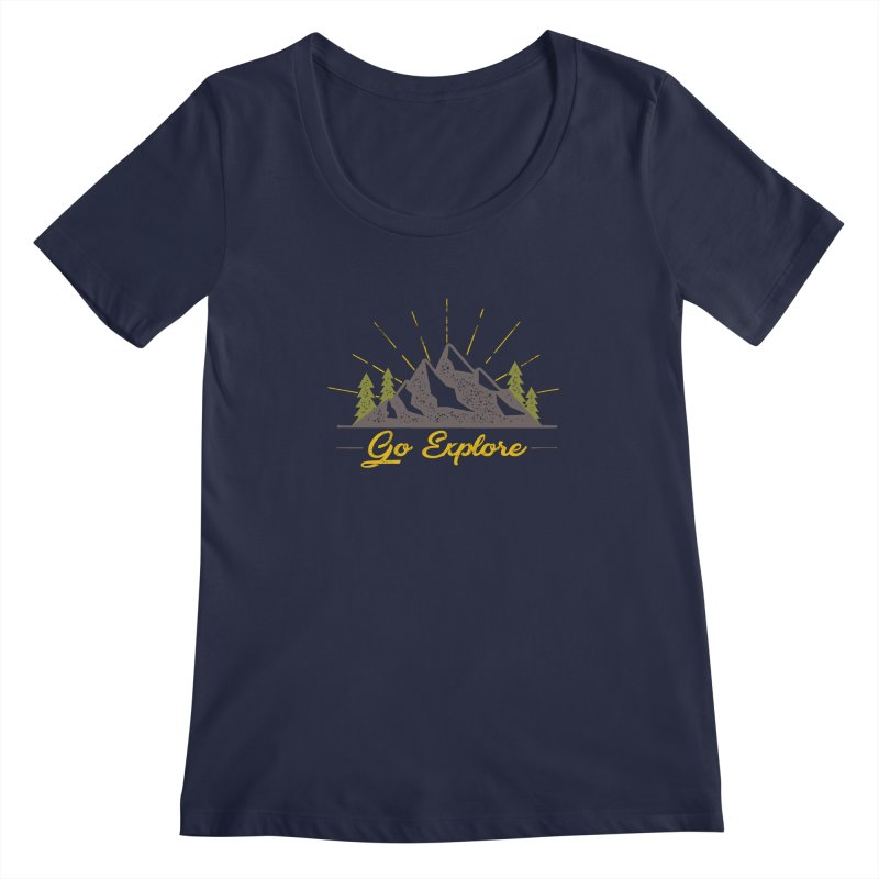 Go Explore Women's Scoopneck by The Bearly Brand
