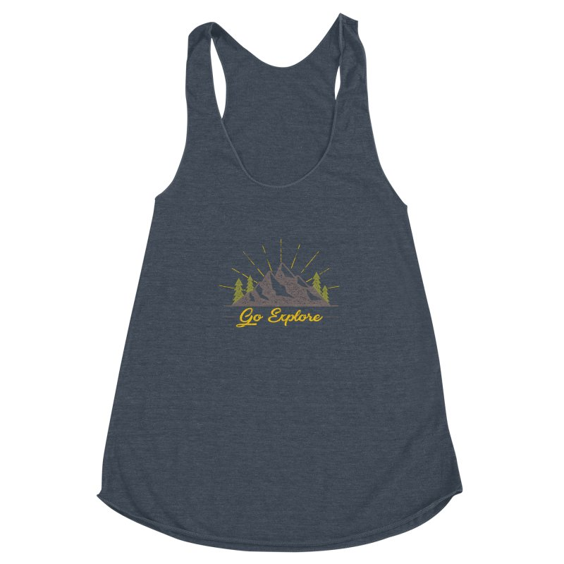 Go Explore Women's Racerback Triblend Tank by The Bearly Brand