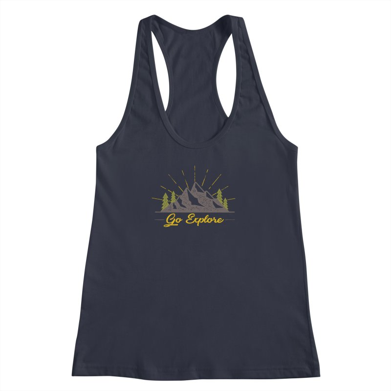 Go Explore Women's Racerback Tank by The Bearly Brand