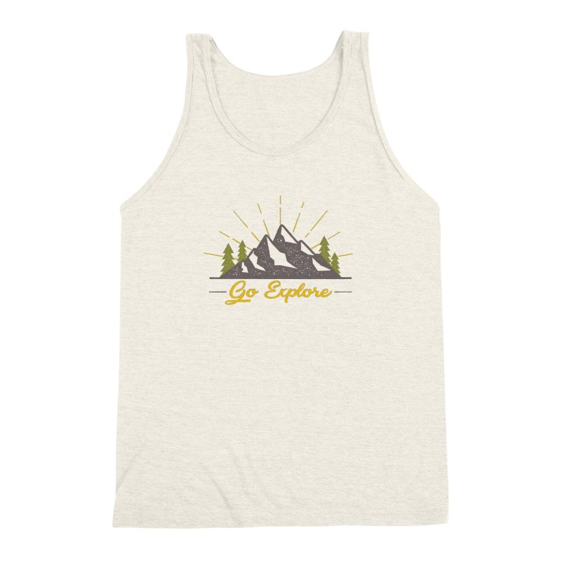 Go Explore Men's Triblend Tank by The Bearly Brand