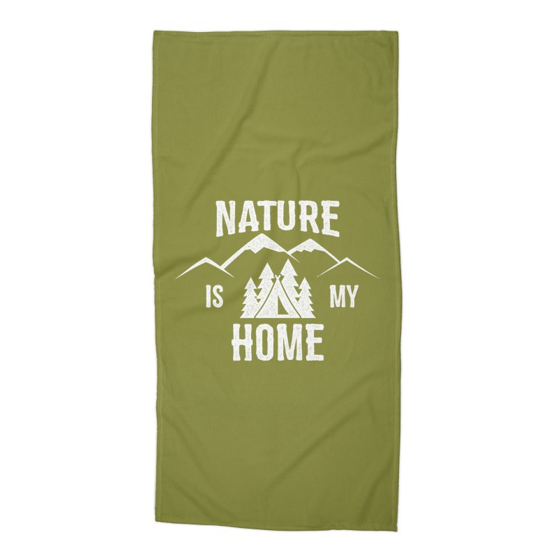 Nature Is My Home Accessories Beach Towel by The Bearly Brand