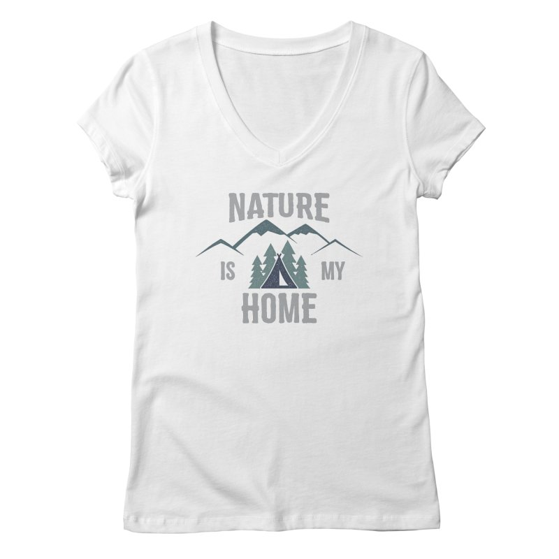 Nature Is My Home Women's V-Neck by The Bearly Brand