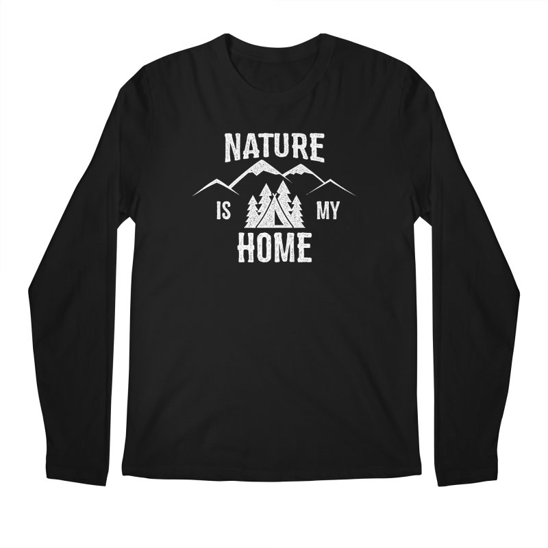 Nature Is My Home Men's Regular Longsleeve T-Shirt by The Bearly Brand