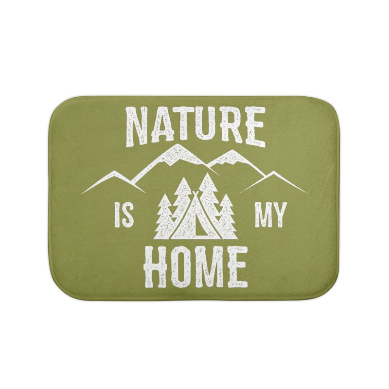 Nature Is My Home Home Bath Mat by The Bearly Brand