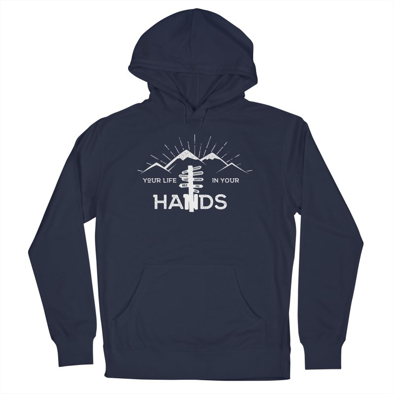 Your Life In Your Hands Men's French Terry Pullover Hoody by The Bearly Brand
