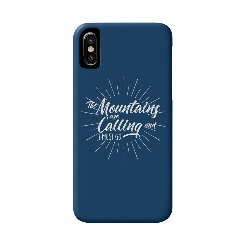 The Mountains Are Calling Accessories Phone Case by The Bearly Brand