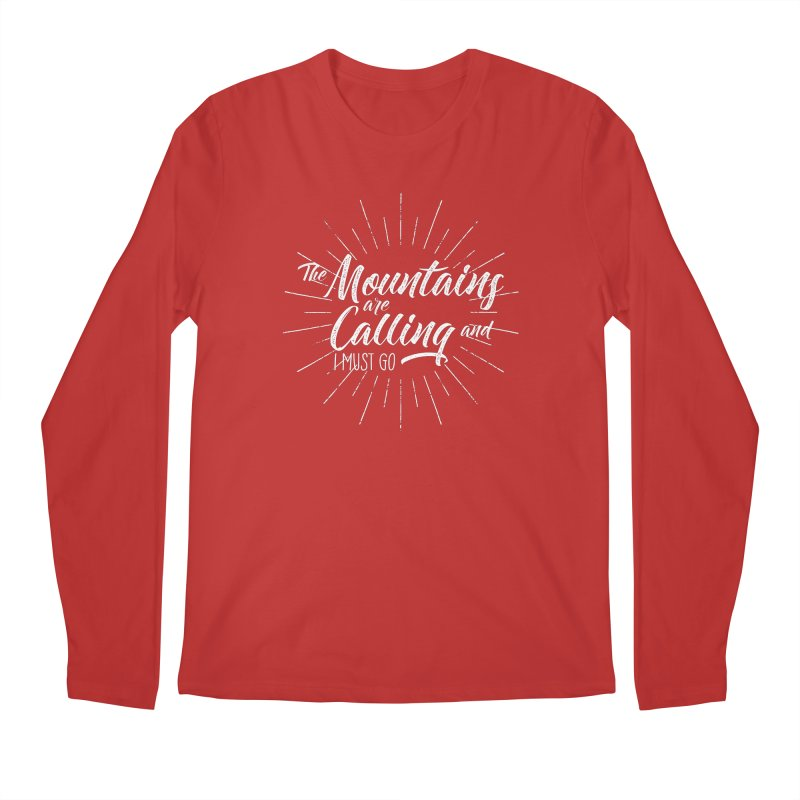The Mountains Are Calling Men's Regular Longsleeve T-Shirt by The Bearly Brand