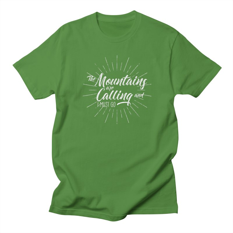 The Mountains Are Calling Men's T-Shirt by The Bearly Brand