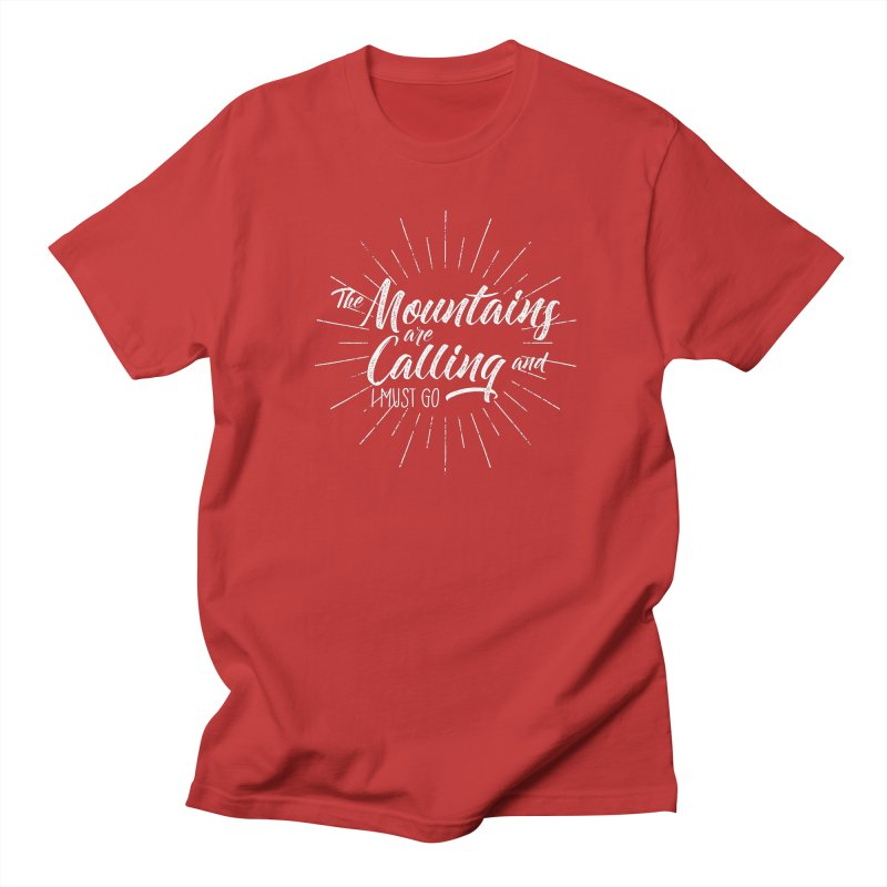 The Mountains Are Calling Men's Regular T-Shirt by The Bearly Brand