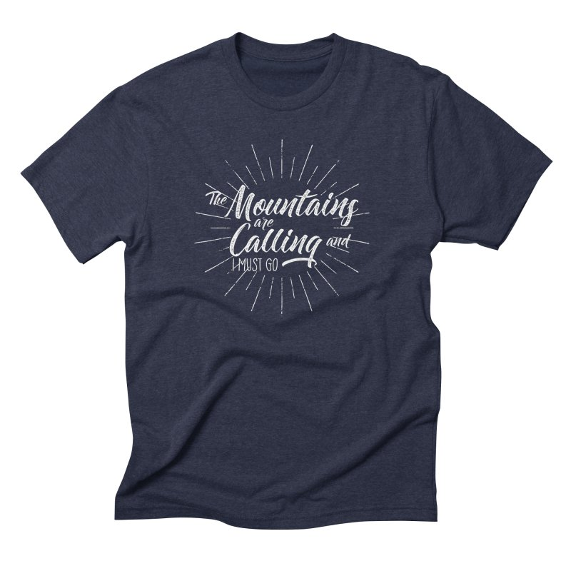 The Mountains Are Calling Men's Triblend T-Shirt by The Bearly Brand