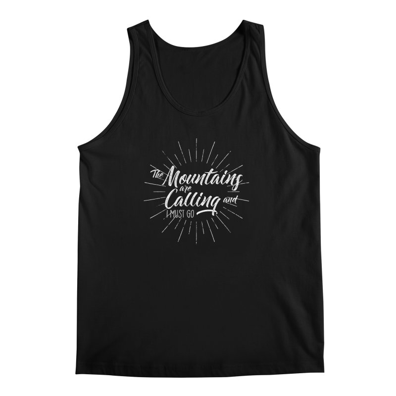 The Mountains Are Calling Men's Regular Tank by The Bearly Brand