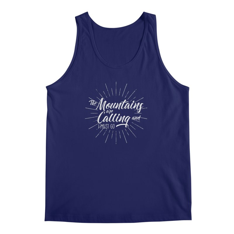 The Mountains Are Calling Men's Tank by The Bearly Brand