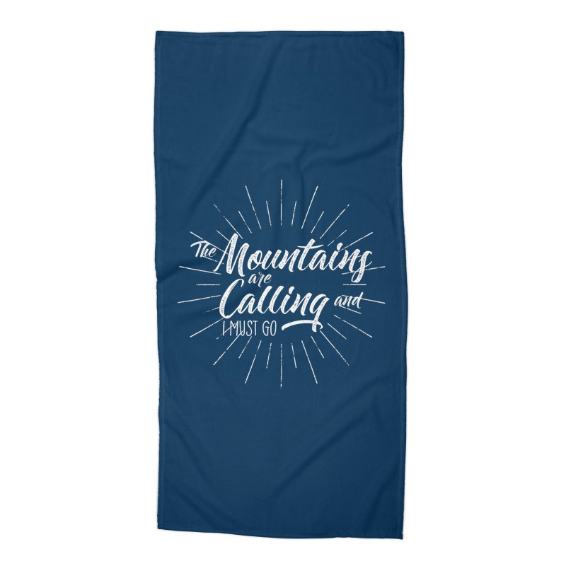 The Mountains Are Calling Accessories Beach Towel by The Bearly Brand