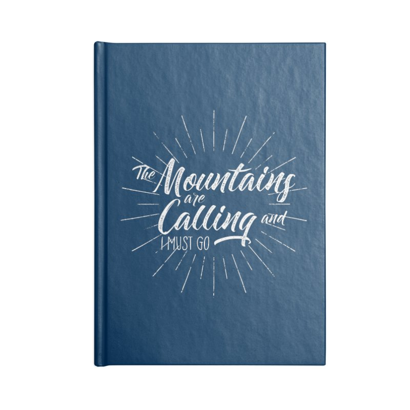The Mountains Are Calling Accessories Blank Journal Notebook by The Bearly Brand